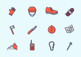 rappelling equipment vector