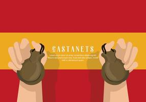 Castanets Illustratie