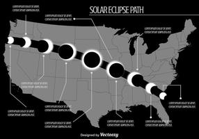 Mapa do caminho do Eclipse Solar do US US
