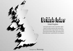 Vector Reino Unido / Mapa das ilhas britânicas