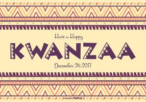 Färgrik Glad Kwanzaa Illustration