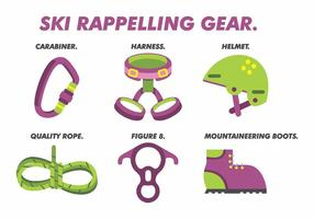 Rappelling Gear Vector Pack