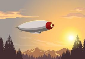 Airship Dirigible Vector Scene
