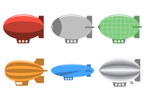 Flat Dirigible Vector