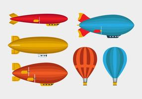 Zeppelin And Balloon Vectors