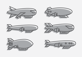 Dirigible Contorno Vector