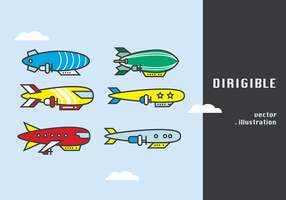 Dirigible Vector Illustratie