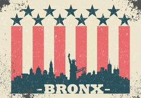Illustration vintage grunge bronx