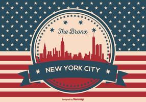 The Bronx,New York City Illustration