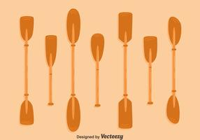 Wood-paddle-collection-vector