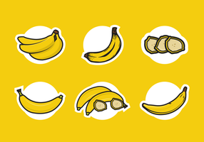Plantain ikoner Gratis Vector Pack