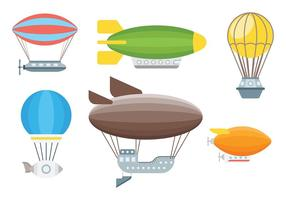 Dirigible iconos vectoriales