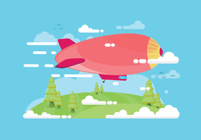 Gratis Dirigible Vector