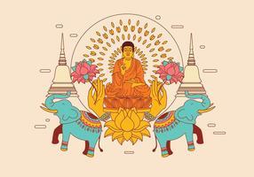 Ornament Buddah Vector