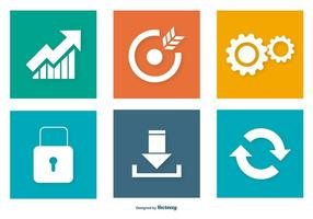 Colorful Seo Icon Collection