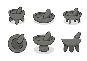 Cartoony Molcajete Vector