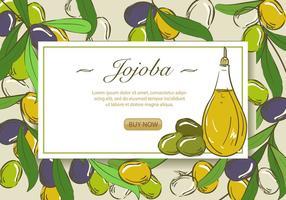 Huile essentielle de jojoba vecteur