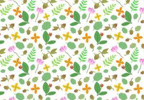 Vecteurs de motif de plantes médicinales gratuites