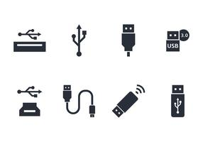 USB Icon Set