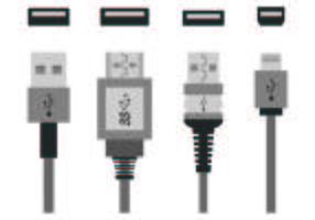 Set von USB-Port-Icons