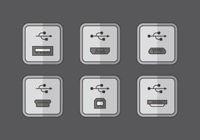 Vector de conexión de puerto USB