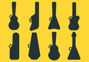 Ícones do vetor da caixa da guitarra