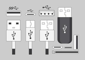 Usb port pakket vector