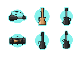 Guitar Case Free Vector Pack