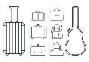 Case and Baggage Icon Vectors