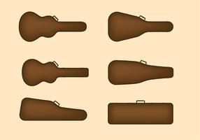 Guitar Case Set Free Vector