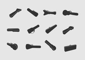 Guitar cases Vector Icons
