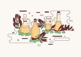 Jojoba flaska vektor