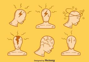 Handdrawn Headache Element Vector