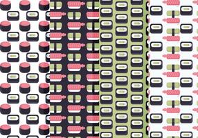 Vector Sushi Patterns Set