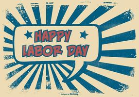 Comic-Stil Happy Labor Day Illustration