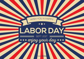 Retro Labor Day Vector Background