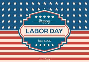 Retro Labor Day Background Vector