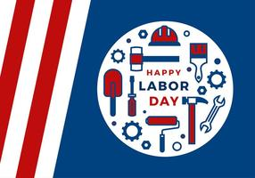 Labor Day Icon Groet Gratis Vector