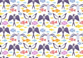 Gratis Sea Life Pattern Vector