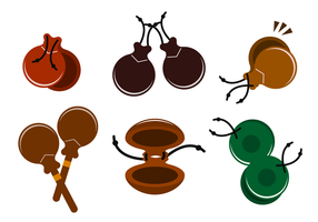 Wood Castanets Vector