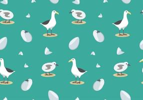 Albatross Pattern Free Vector