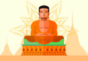 Vector Illustration Of Buddah