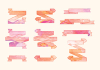 Vector Watercolor Ribbons Set