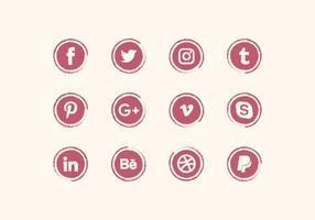 Vector Social Media Icons Set
