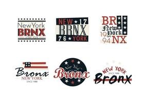 bronx vintage logo's vector