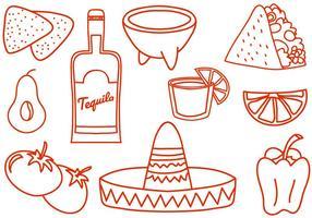 Vecteurs gratuits de Doodle Mexico