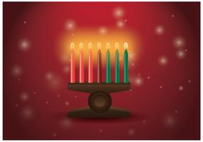 Kwanzaa Candle Vector gratuito