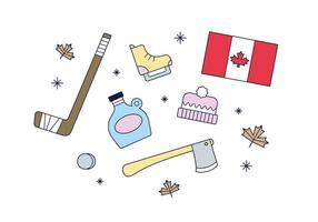 Vector libre de Canadá