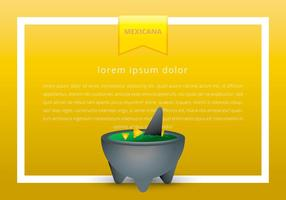 Molcajete Mexican Traditional Food Vector