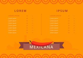 Mexicaanse Eten en Menu Sjabloon Vector